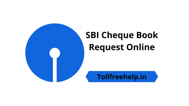 New SBI Cheque Book Request