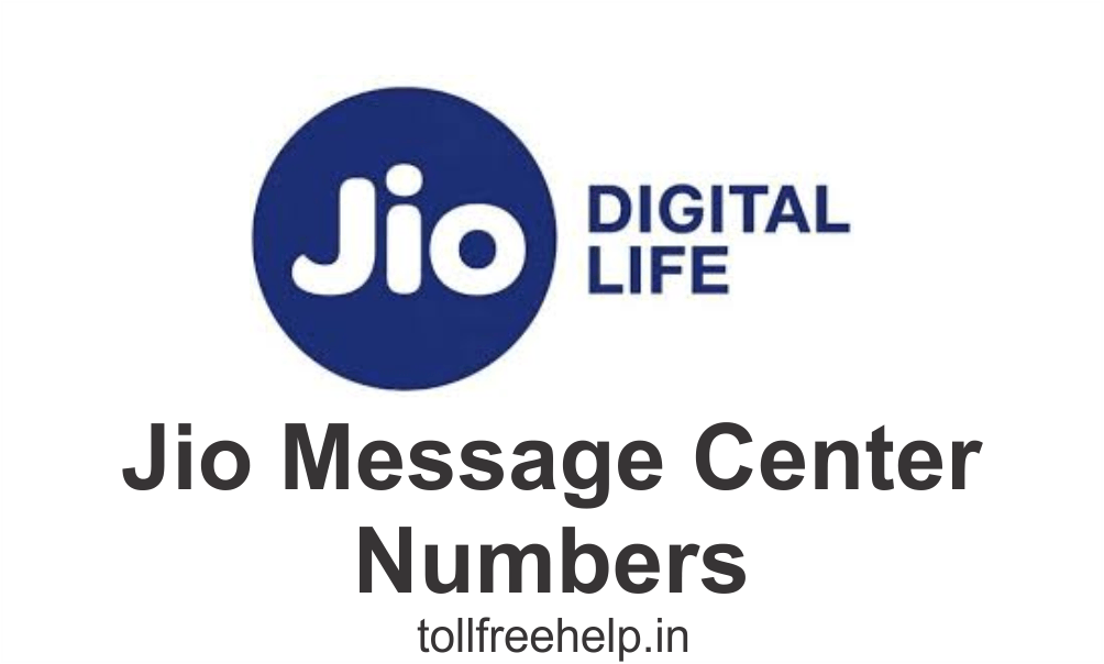 Jio Message Center Numbers
